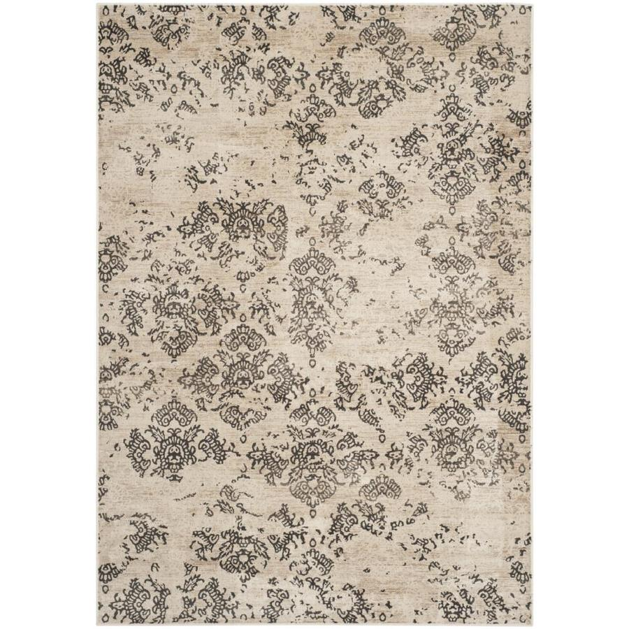 Safavieh Vintage Stone Rectangular Indoor Machine-Made Distressed Throw Rug (Common: 3 x 5; Actual: 3.25-ft W x 5.583-ft L)