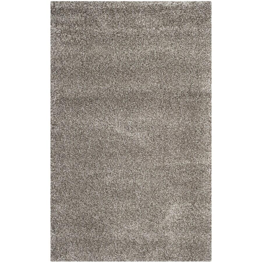 Safavieh Milan Shag Gray Rectangular Indoor Area Rug (Common: 6 x 9; Actual: 6-ft W x 9-ft L)