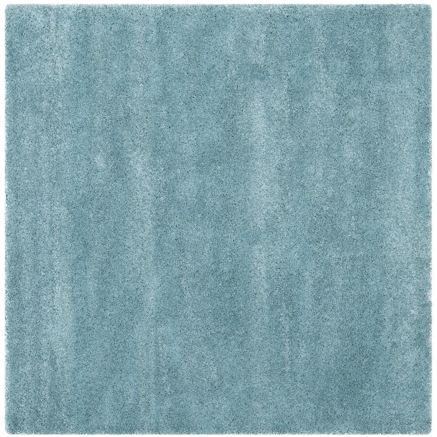 Safavieh Milan Shag Aqua Blue Square Indoor Area Rug (Common: 7 x 7; Actual: 6.6-ft W x 6.6-ft L)