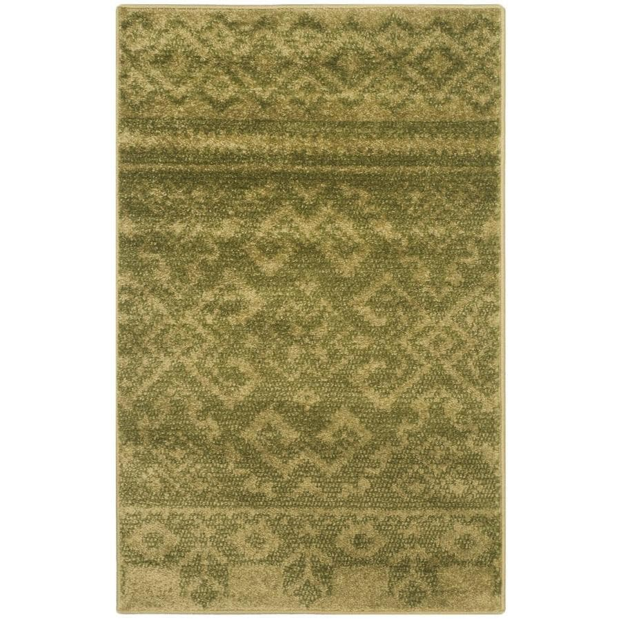 Safavieh Adirondack Taos Green/Dark Green Indoor Lodge Throw Rug (Common: 2 x 4; Actual: 2.5-ft W x 4-ft L)