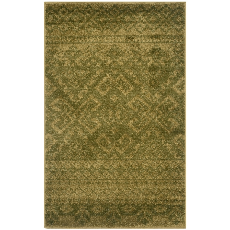Safavieh Adirondack Green/Dark Green Rectangular Indoor Machine-Made Lodge Runner (Common: 2 x 6; Actual: 2.5-ft W x 6-ft L x 0-ft Dia)