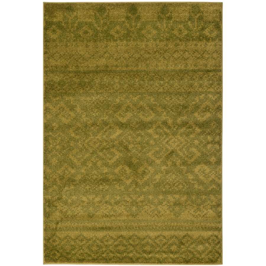 Safavieh Adirondack Taos Green/Dark Green Indoor Lodge Area Rug (Common: 6 x 9; Actual: 6-ft W x 9-ft L)