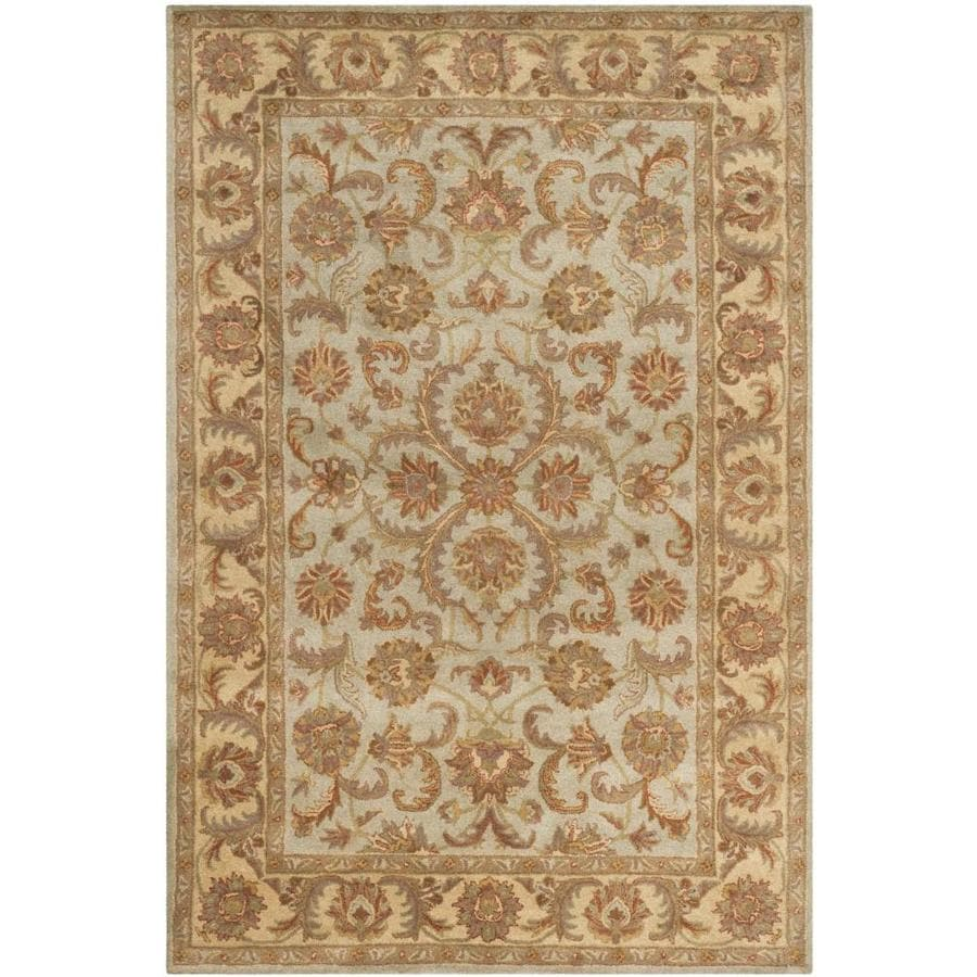 Safavieh Heritage Green and Gold Rectangular Indoor Tufted Area Rug (Common: 6 x 9; Actual: 72-in W x 108-in L x 0.67-ft Dia)
