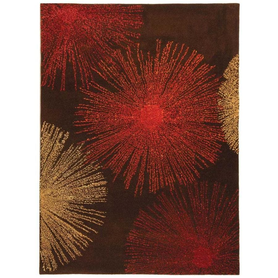 Safavieh Soho Brown and Multicolor Rectangular Indoor Tufted Area Rug (Common: 4 x 6; Actual: 42-in W x 66-in L x 0.5-ft Dia)