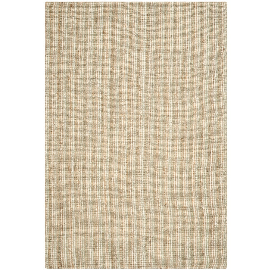Safavieh Natural Fiber Bellport Sage/Natural Rectangular Indoor Handcrafted Coastal Area Rug (Common: 9 x 12; Actual: 9-ft W x 12-ft L)