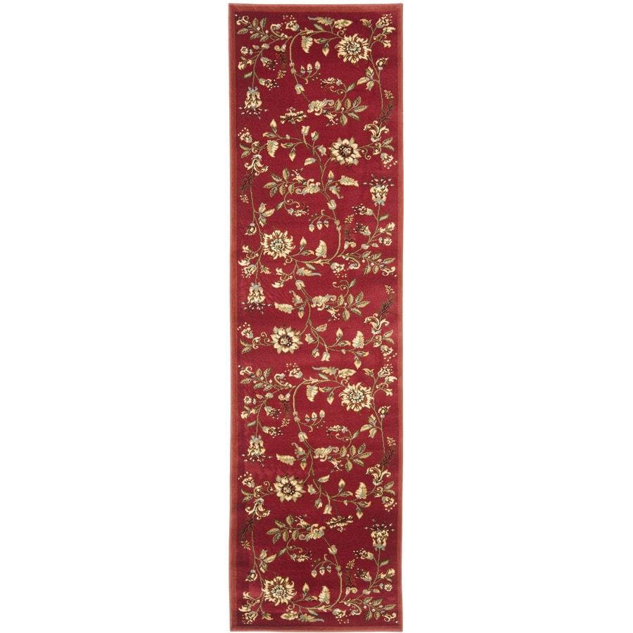Safavieh Lyndhurst Floral Swirl Red/Multi Rectangular Indoor Machine-made Nature Runner (Common: 2 x 8; Actual: 2.25-ft W x 8-ft L)
