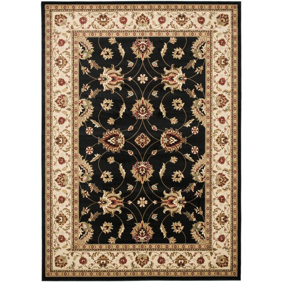 Safavieh Lyndhurst Agra Black/Ivory Indoor Oriental Area Rug (Common: 9 x 12; Actual: 8.75-ft W x 12-ft L)