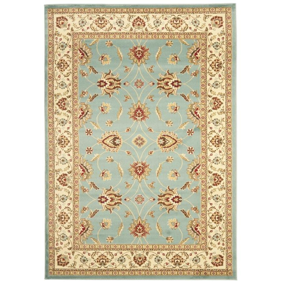 Safavieh Lyndhurst Agra Blue/Ivory Indoor Oriental Area Rug (Common: 5 x 8; Actual: 5.25-ft W x 7.5-ft L)