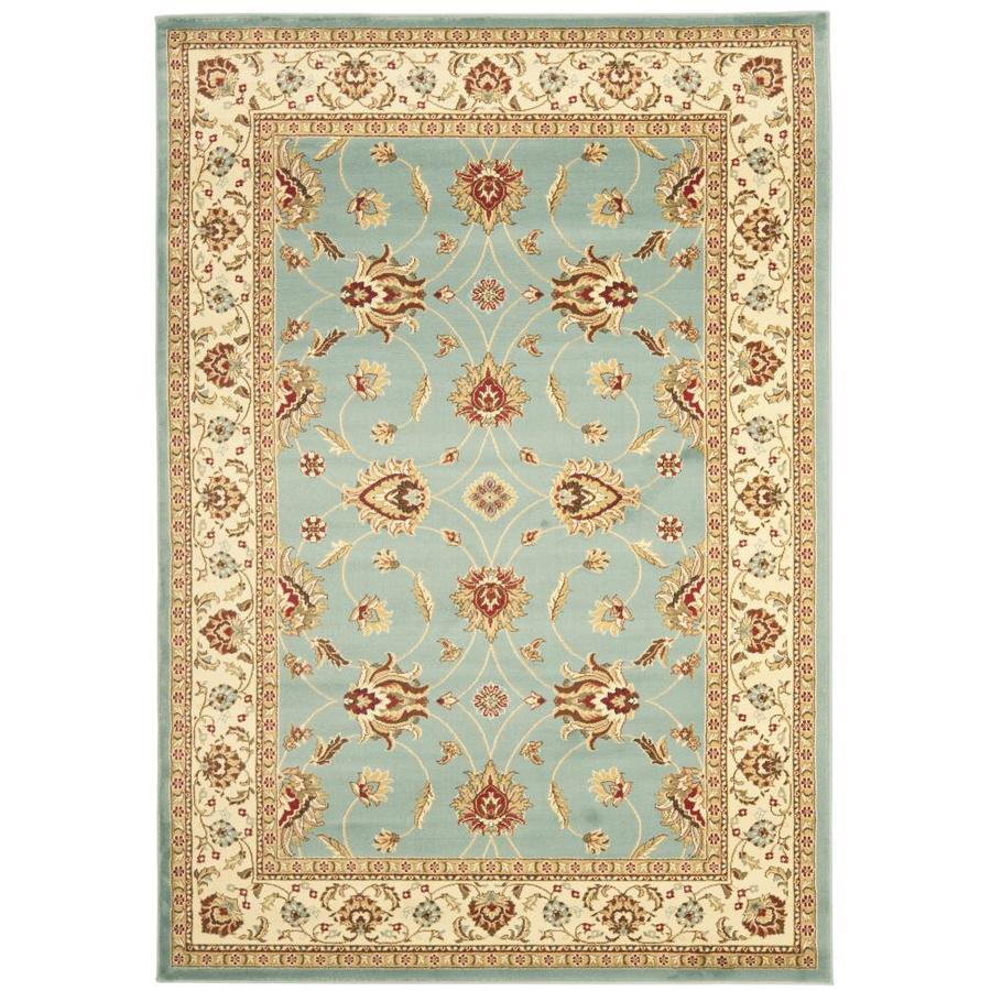 Safavieh Lyndhurst Agra Blue/Ivory Rectangular Indoor Machine-made Oriental Area Rug (Common: 5 x 7; Actual: 5.25-ft W x 7.5-ft L)