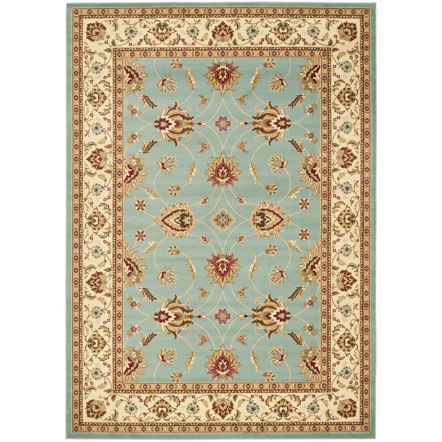 Safavieh Lyndhurst Agra Blue/Ivory Indoor Oriental Area Rug (Common: 9 x 12; Actual: 8.75-ft W x 12-ft L)