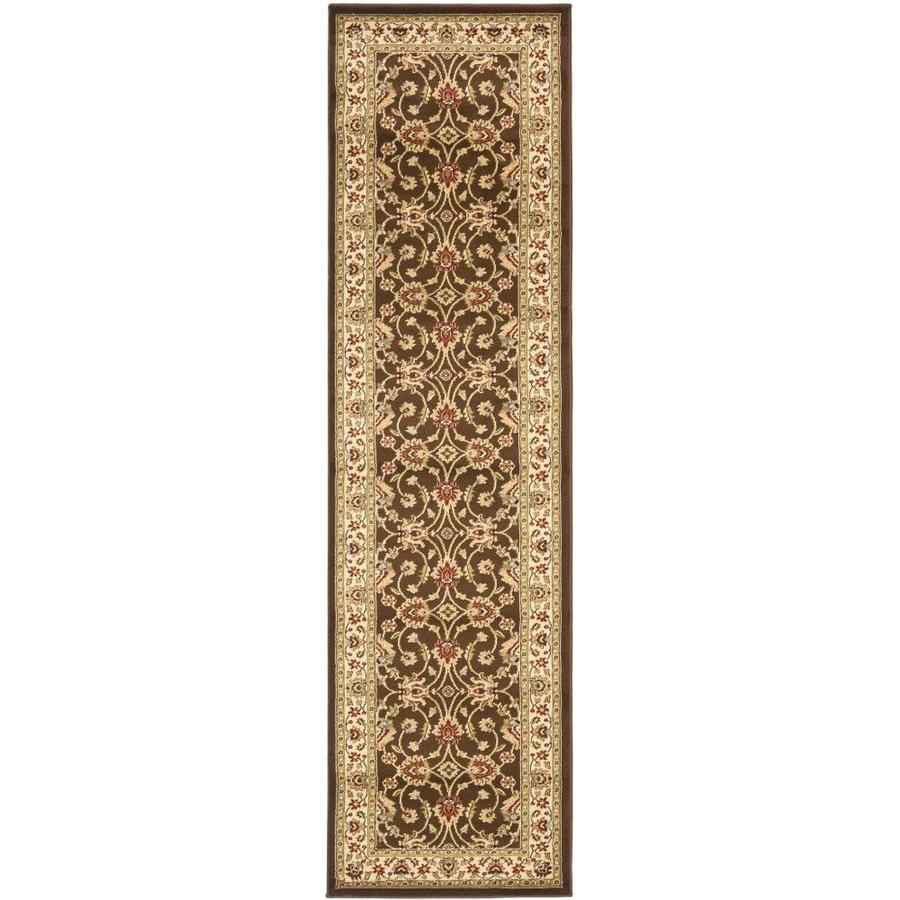 Safavieh Lyndhurst Agra Brown/Ivory Rectangular Indoor  Oriental Runner (Common: 2 x 8; Actual: 2.25-ft W x 8-ft L)