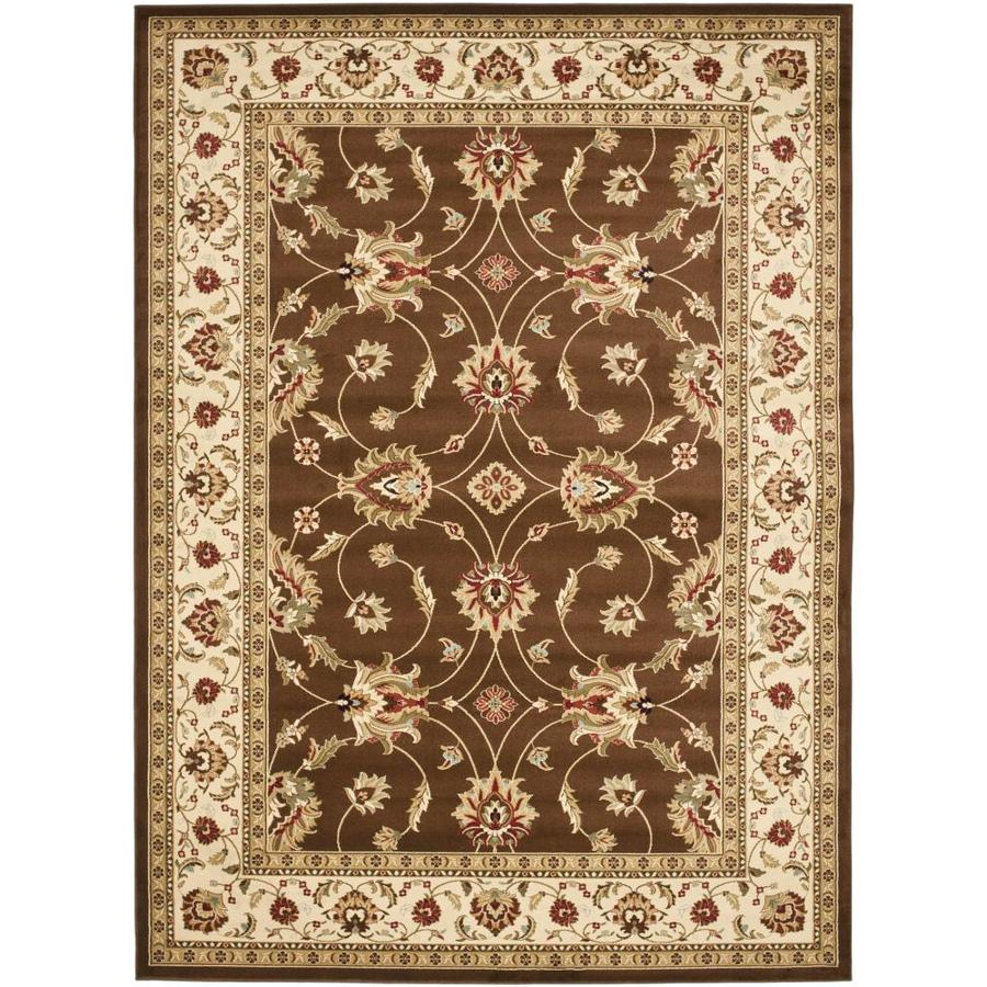 Safavieh Lyndhurst Agra Brown/Ivory Rectangular Indoor Machine-made Oriental Area Rug (Common: 9 x 12; Actual: 8.75-ft W x 12-ft L)
