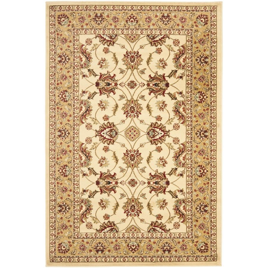 Safavieh Lyndhurst Agra Ivory/Beige Indoor Oriental Area Rug (Common: 4 x 6; Actual: 4-ft W x 6-ft L)