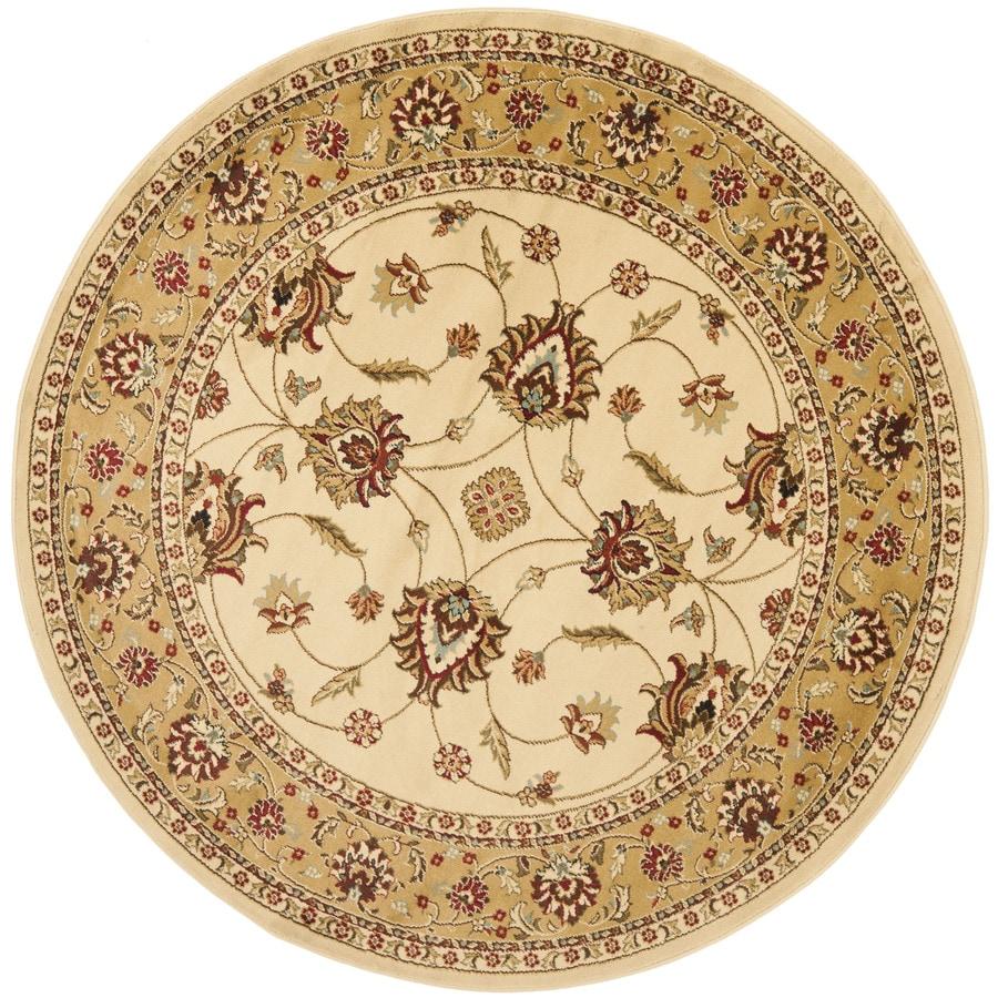 Safavieh Lyndhurst Agra Ivory/Beige Round Indoor Machine-made Oriental Area Rug (Common: 5 x 5; Actual: 5.25-ft W x 5.25-ft L x 5.25-ft dia)