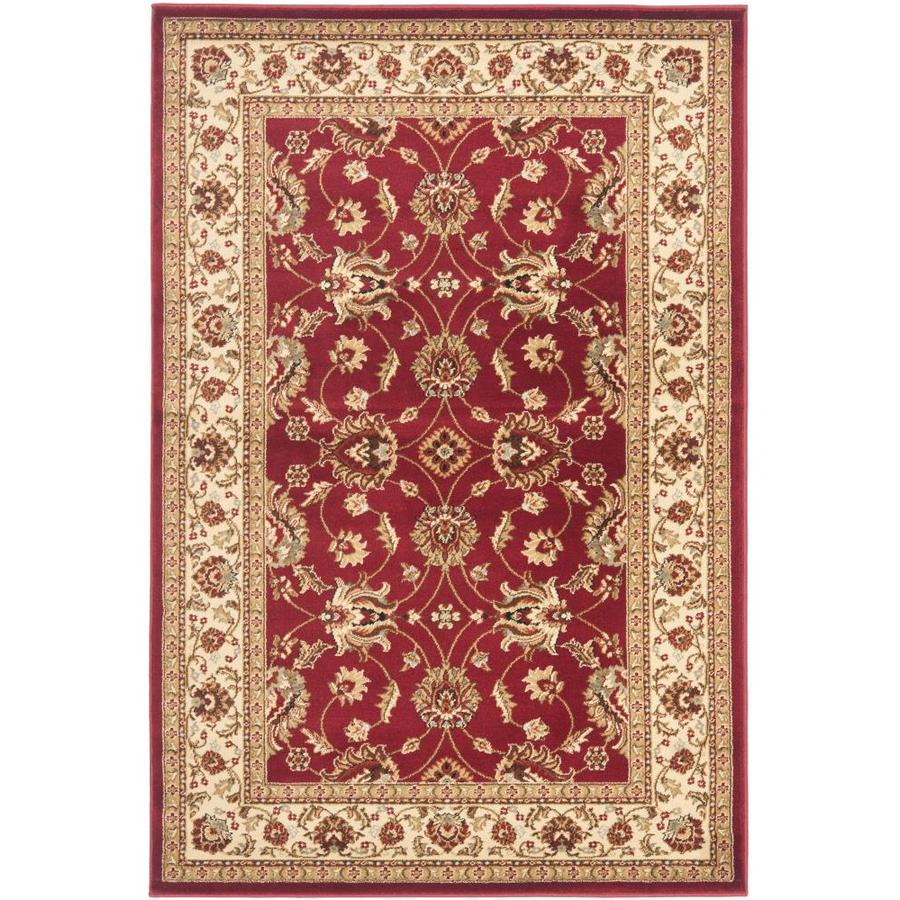 Safavieh Lyndhurst Agra Red/Ivory Indoor Oriental Area Rug (Common: 4 x 6; Actual: 4-ft W x 6-ft L)