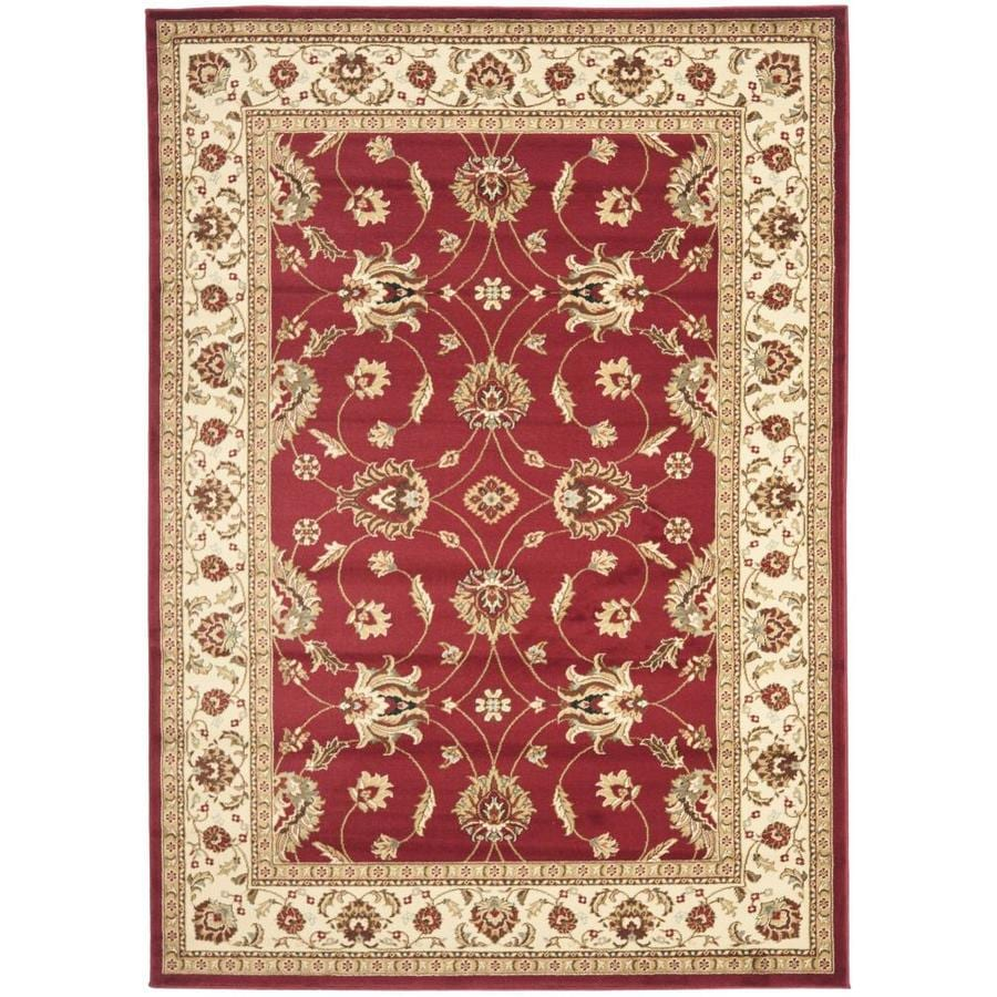Safavieh Lyndhurst Agra Red/Ivory Rectangular Indoor Machine-made Oriental Area Rug (Common: 5 x 7; Actual: 5.25-ft W x 7.5-ft L)