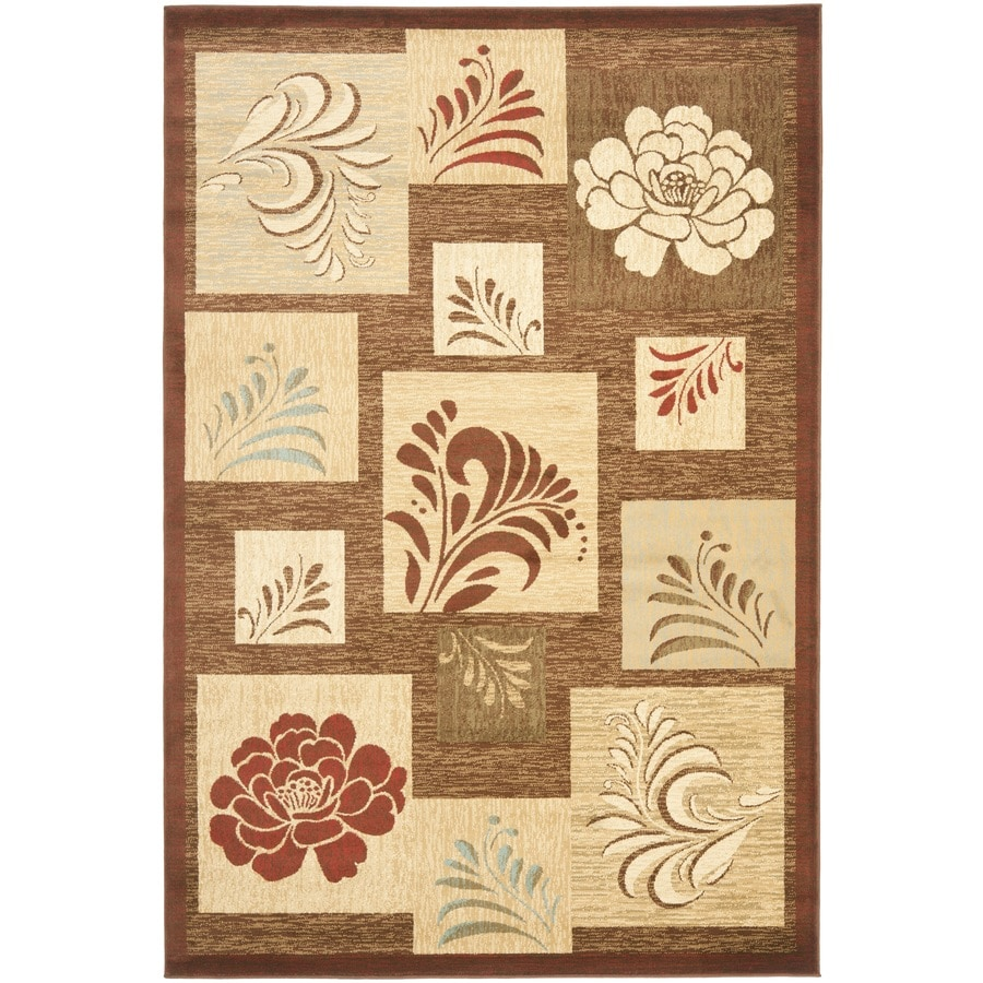Safavieh Lyndhurst Buttera Brown Indoor Oriental Area Rug (Common: 5 x 8; Actual: 5.25-ft W x 7.5-ft L)
