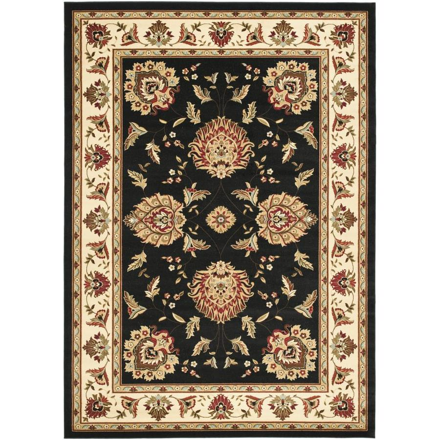 Safavieh Lyndhurst Sultanabad Black/Ivory Indoor Oriental Area Rug (Common: 9 x 12; Actual: 8.75-ft W x 12-ft L)