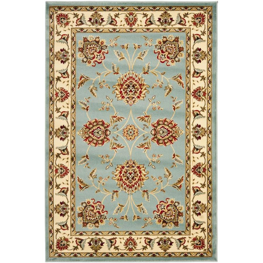 Safavieh Lyndhurst Sultanabad Blue/Ivory Rectangular Indoor Machine-made Oriental Area Rug (Common: 4 x 6; Actual: 4-ft W x 6-ft L)