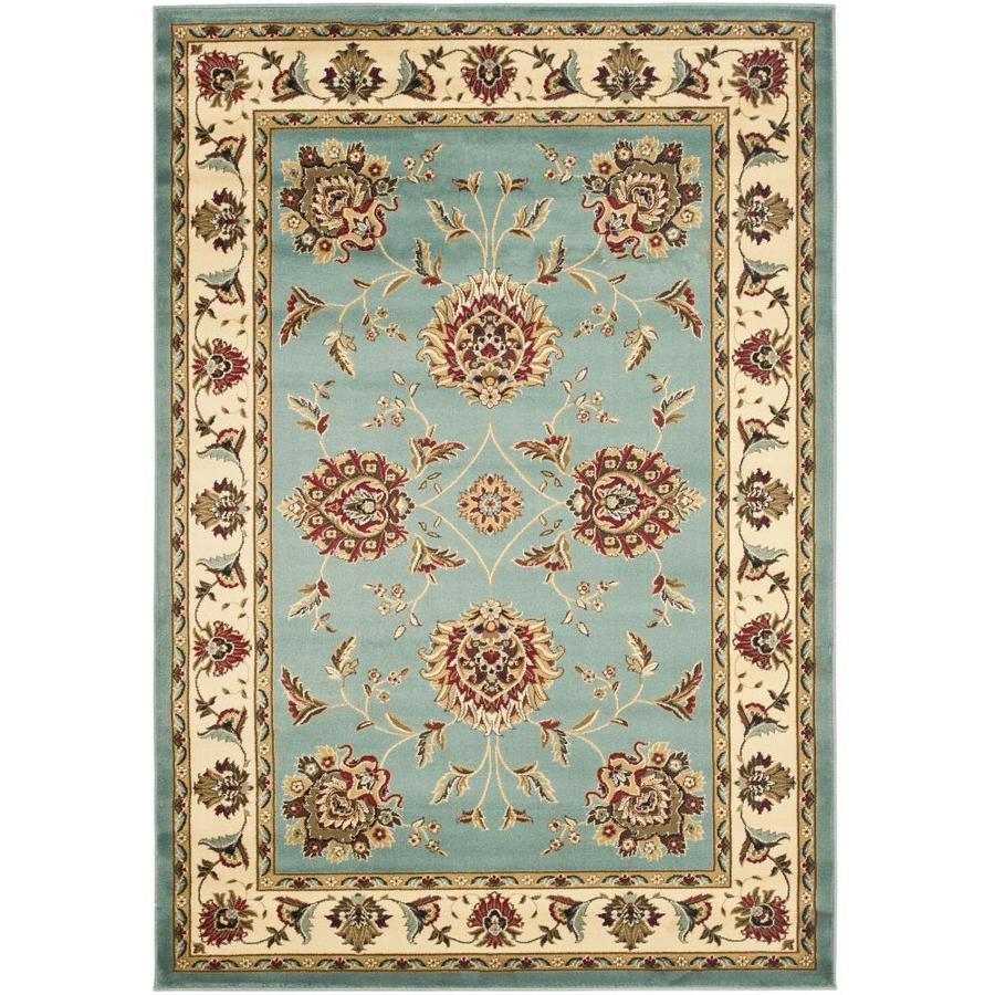 Safavieh Lyndhurst Sultanabad Blue/Ivory Rectangular Indoor Machine-made Oriental Area Rug (Common: 5 x 7; Actual: 5.25-ft W x 7.5-ft L)