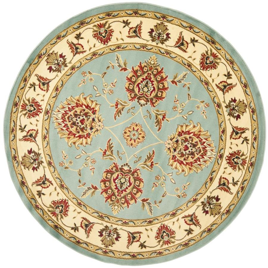 Safavieh Lyndhurst Sultanabad Blue/Ivory Round Indoor Machine-made Oriental Area Rug (Common: 5 x 5; Actual: 5.25-ft W x 5.25-ft L x 5.25-ft Dia)