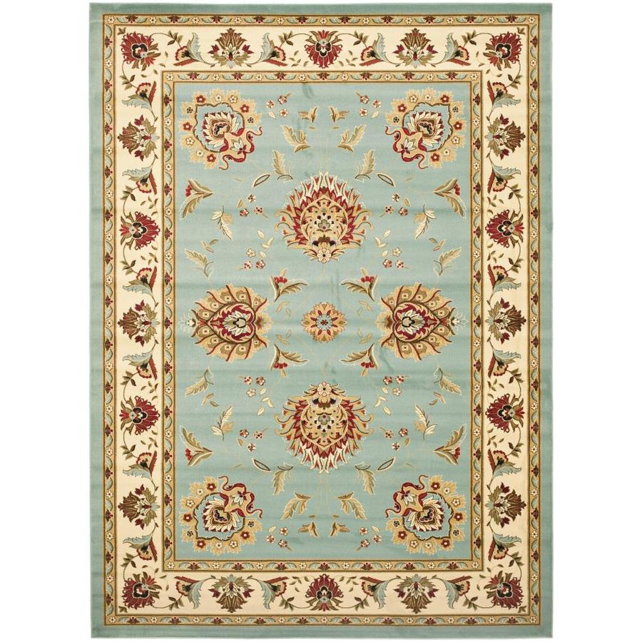 Safavieh Lyndhurst Sultanabad Blue/Ivory Rectangular Indoor Machine-made Oriental Area Rug (Common: 9 x 12; Actual: 8.75-ft W x 12-ft L)