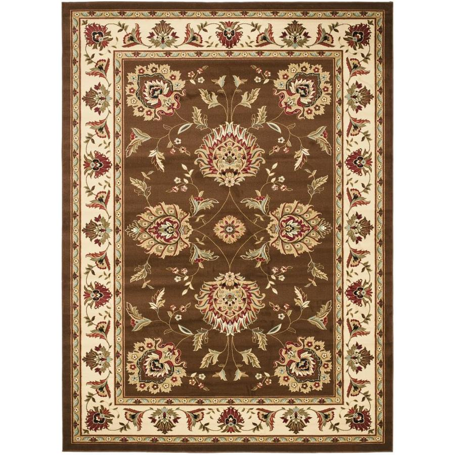 Safavieh Lyndhurst Sultanabad Brown/Ivory Rectangular Indoor Machine-made Oriental Area Rug (Common: 9 x 12; Actual: 8.75-ft W x 12-ft L)
