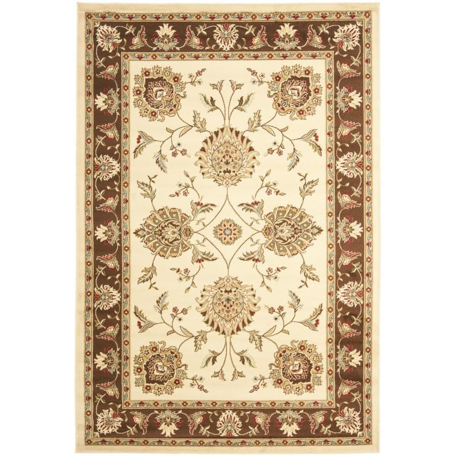 Safavieh Lyndhurst Sultanabad Ivory/Brown Rectangular Indoor Machine-made Oriental Area Rug (Common: 5 x 7; Actual: 5.25-ft W x 7.5-ft L)