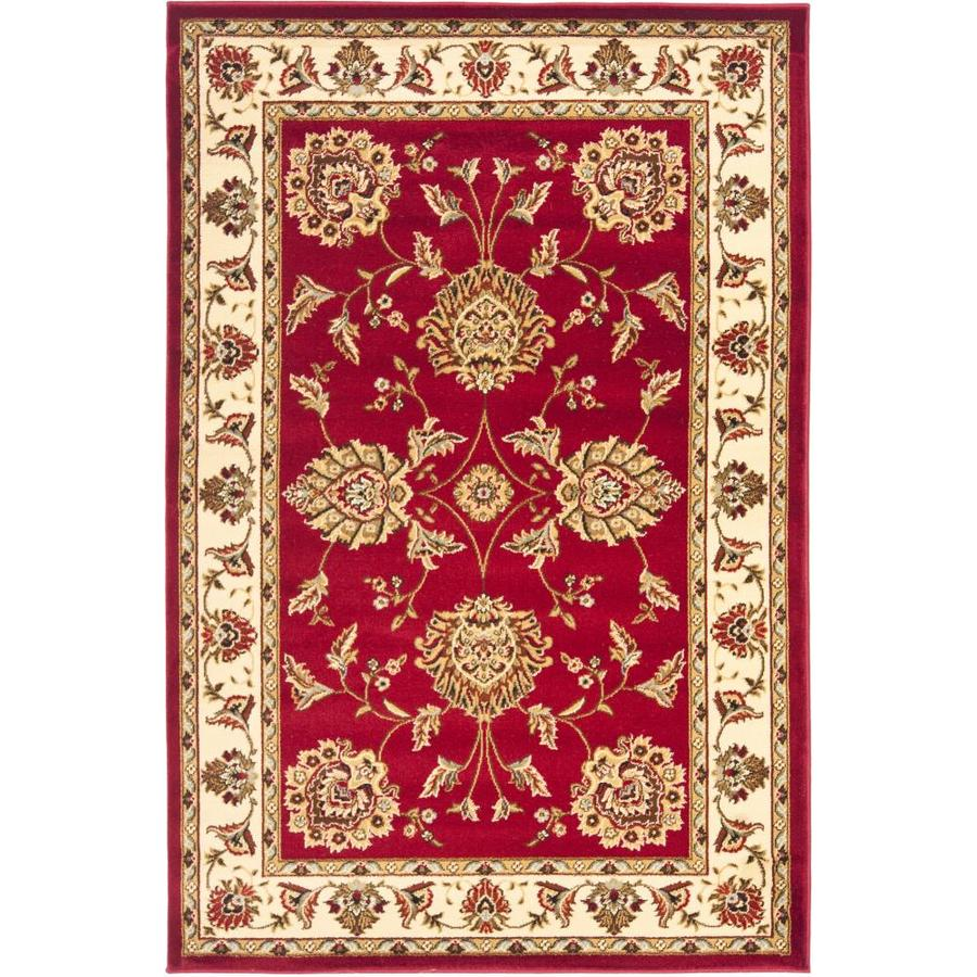Safavieh Lyndhurst Red and Ivory Rectangular Indoor Machine-Made Area Rug (Common: 4 x 6; Actual: 48-in W x 72-in L x 0.42-ft Dia)
