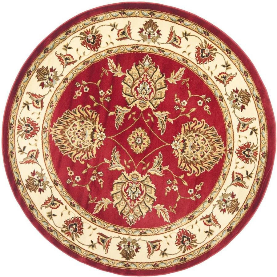 Safavieh Lyndhurst Sultanabad Red/Ivory Round Indoor Machine-made Oriental Area Rug (Common: 5 x 5; Actual: 5.25-ft W x 5.25-ft L x 5.25-ft Dia)