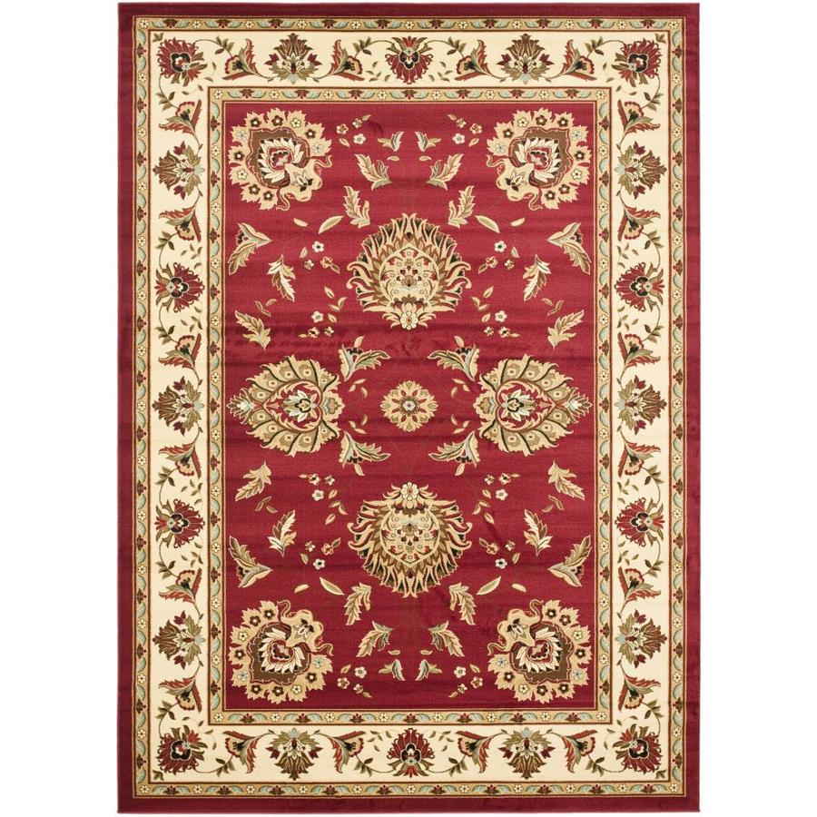 Safavieh Lyndhurst Sultanabad Red/Ivory Indoor Oriental Area Rug (Common: 8 x 11; Actual: 8-ft W x 11-ft L)