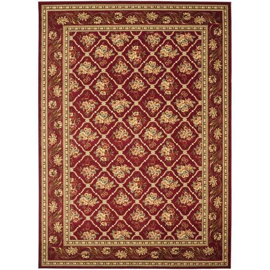 Safavieh Lyndhurst Floral Lattice Red Indoor Oriental Area Rug (Common: 9 x 12; Actual: 9-ft W x 12-ft L)
