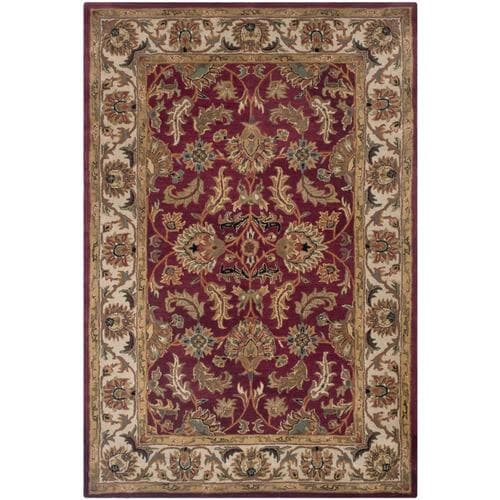Safavieh Heritage Kashan Red Ivory Rectangular Indoor
