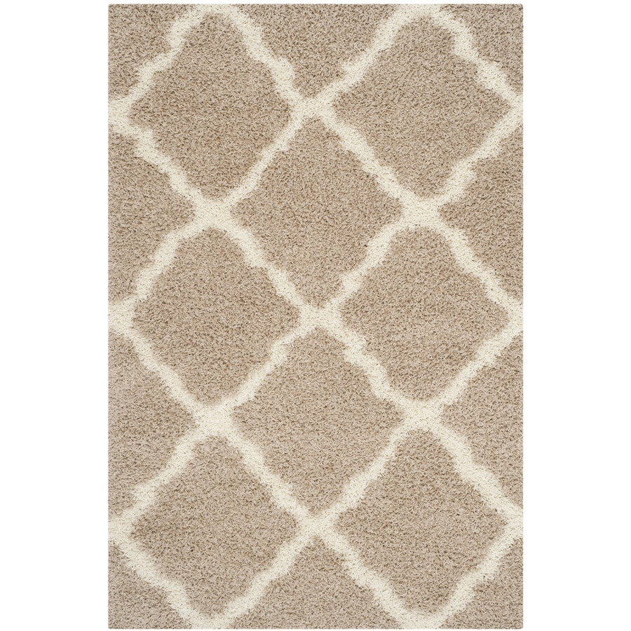 Safavieh Dallas Shag Beige/Ivory Indoor Area Rug (Common