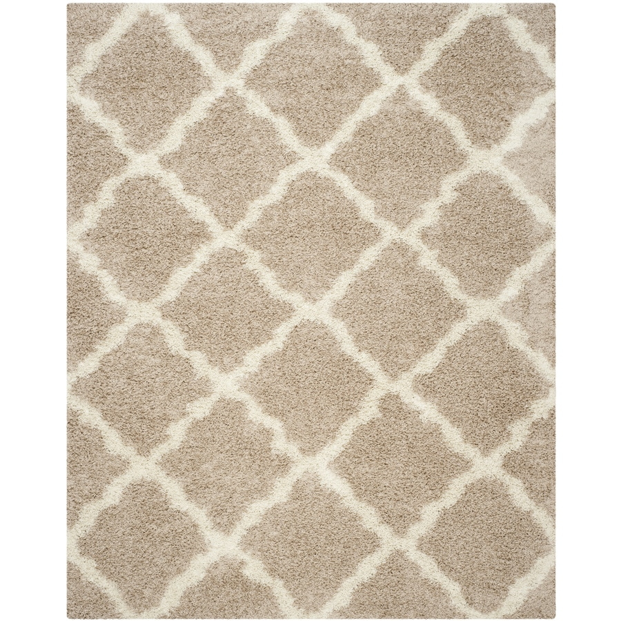 Shop Safavieh Dallas Shag Beige Ivory Indoor Moroccan Area