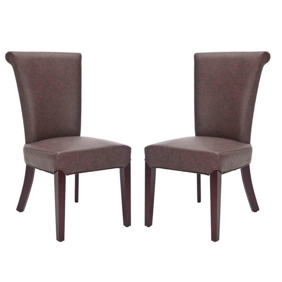 Safavieh Set of 2 Mercer Brown Side Chairs