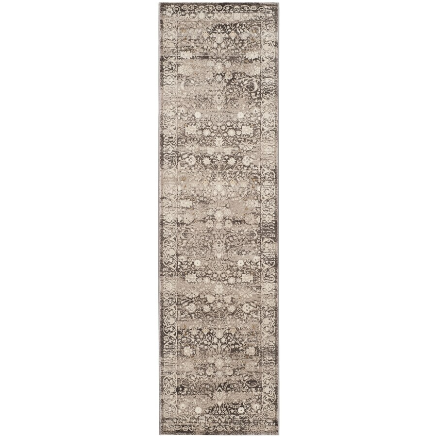 Safavieh Serenity Brown/Creme Indoor Distressed Runner (Common: 2 x 8; Actual: 2.25-ft W x 8-ft L)