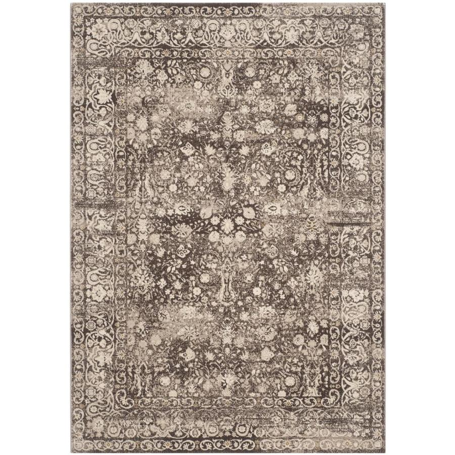 Safavieh Serenity Brown/Creme Rectangular Indoor Machine-Made Throw Rug (Common: 3 x 5; Actual: 3.25-ft W x 5.25-ft L x 0-ft Dia)