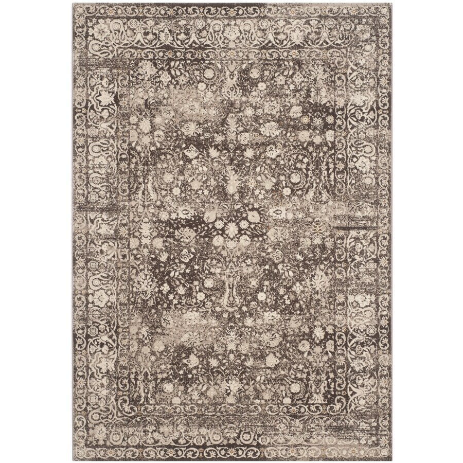 Safavieh Serenity Brown/Creme Rectangular Indoor Machine-made Distressed Area Rug (Common: 4 X 6; Actual: 4-ft W x 6-ft L)