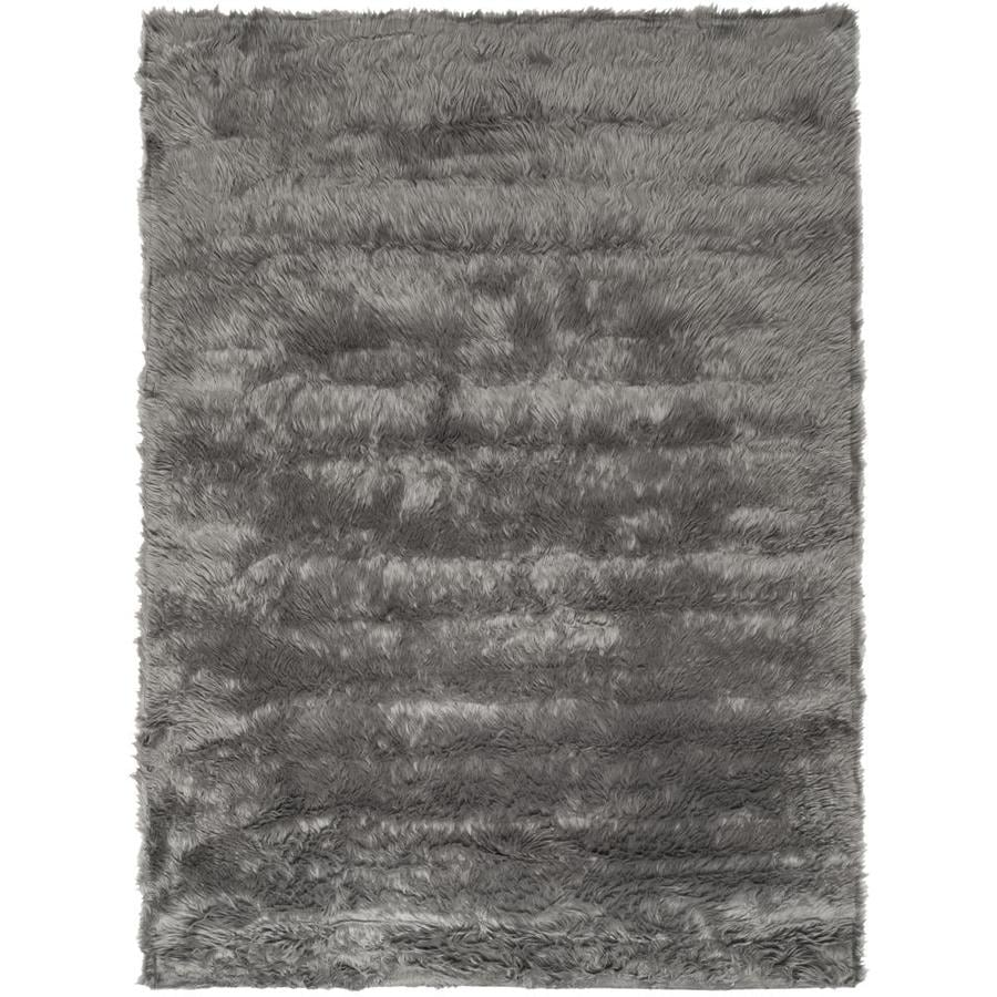 Safavieh Faux Sheep Skin Patras 4 X 6 Gray Indoor Solid Farmhouse Cottage Area Rug In The Rugs Department At Lowes Com