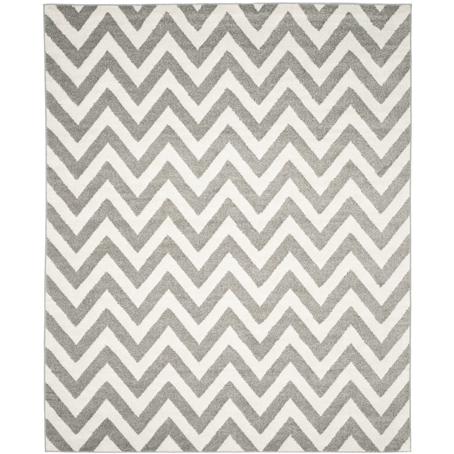Safavieh Amherst Bellport Dark Gray/Beige Indoor/Outdoor Moroccan Area Rug (Common: 10 x 14; Actual: 10-ft W x 14-ft L)