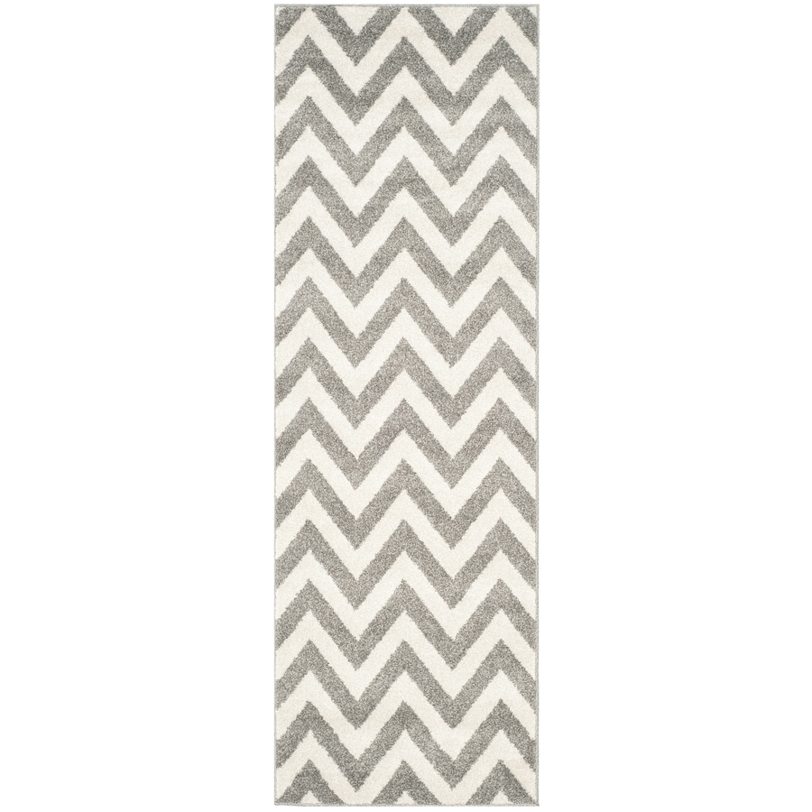 Safavieh Amherst Bellport Dark Gray/Beige Indoor/Outdoor Moroccan Runner (Common: 2 x 11; Actual: 2.3-ft W x 11-ft L)