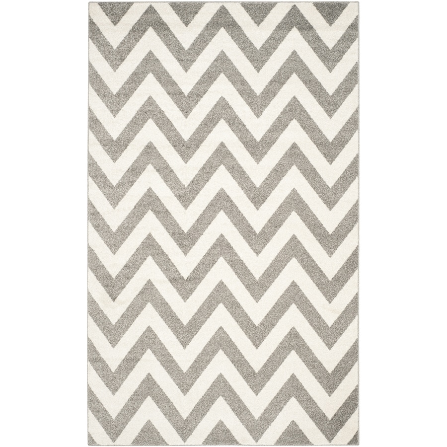 Safavieh Amherst Bellport Dark Gray/Beige Rectangular Indoor/Outdoor Machine-Made Moroccan Area Rug (Common: 5 x 8; Actual: 5-ft W x 8-ft L)
