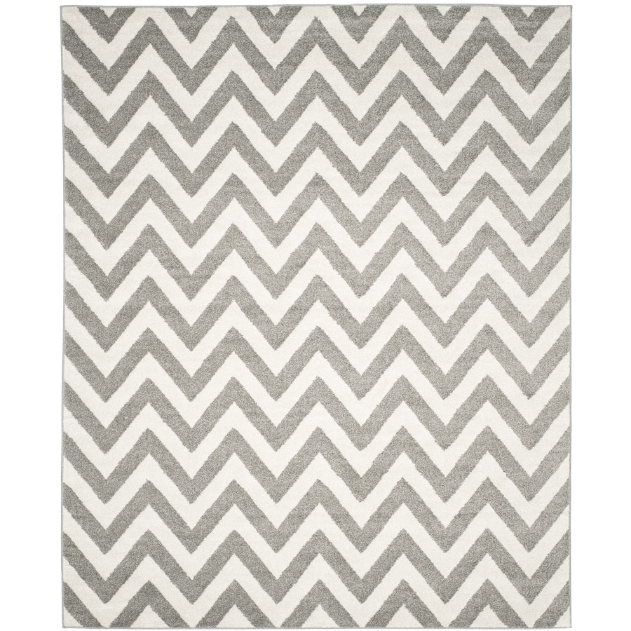 Safavieh Amherst Bellport Dark Gray/Beige Rectangular Indoor/Outdoor Machine-Made Moroccan Area Rug (Common: 6 x 9; Actual: 6-ft W x 9-ft L)