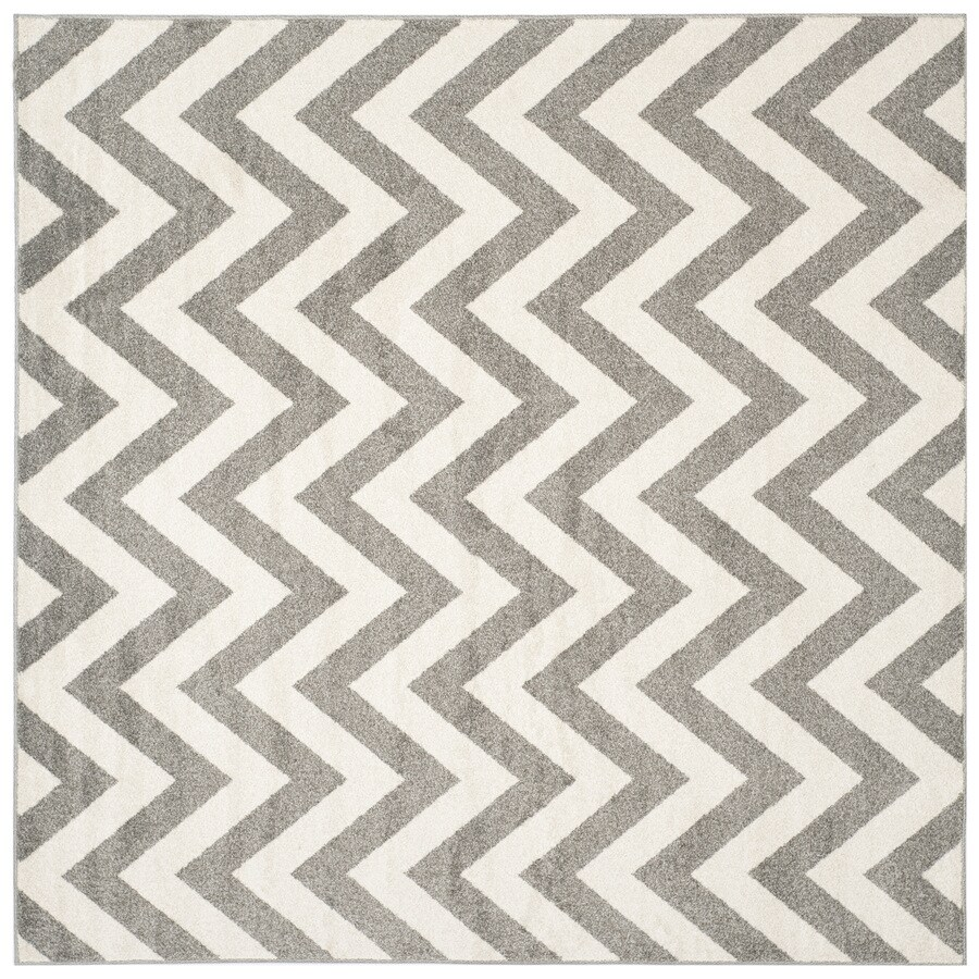 Safavieh Amherst Dark Gray/Beige Square Indoor/Outdoor Machine-Made Moroccan Area Rug (Common: 7 x 7; Actual: 7-ft W x 7-ft L)