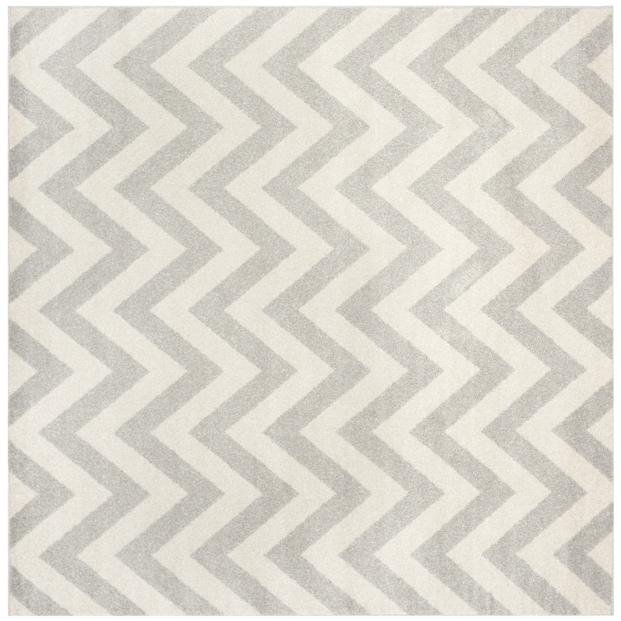 Safavieh Amherst Bellport Gray/Beige Square Indoor/Outdoor Moroccan Area Rug (Common: 7 x 7; Actual: 6.6-ft W x 6.6-ft L)