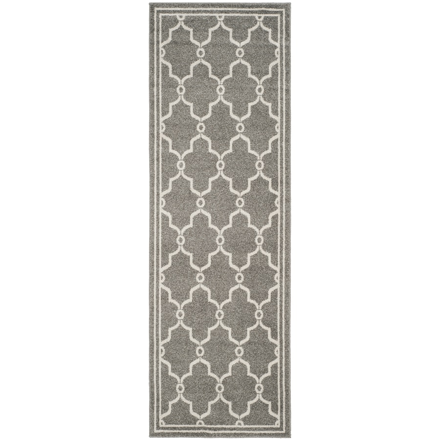 Safavieh Amherst Dark Grey/Beige Rectangular Indoor/Outdoor Machine-Made Runner