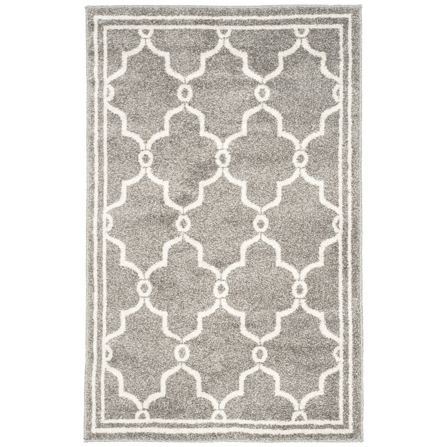 Safavieh Amherst Marion Dark Gray/Beige Indoor/Outdoor Moroccan Throw Rug (Common: 2 x 4; Actual: 2.5-ft W x 4-ft L)