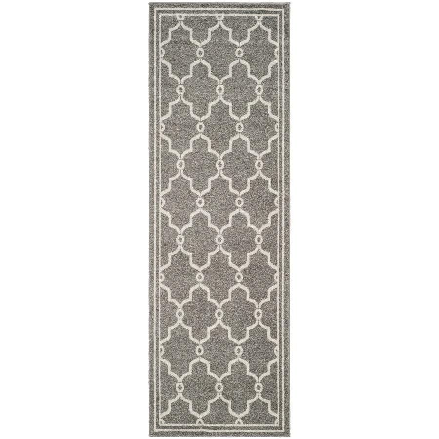 Safavieh Amherst Marion Dark Gray/Beige Rectangular Indoor/Outdoor Machine-made Moroccan Runner (Common: 2 x 7; Actual: 2.25-ft W x 7-ft L)
