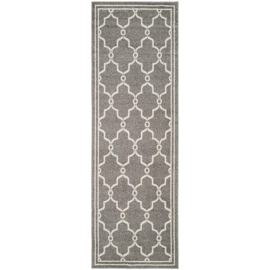 Safavieh Amherst Marion Dark Gray/Beige Rectangular Indoor/Outdoor Machine-Made Moroccan Runner (Common: 2 x 9; Actual: 2.25-ft W x 9-ft L)